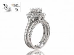"""Кольцо для помолвки """"Бриджит"""" из золота с бриллиантами."""
