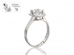 """Эксклюзивное  золотое кольцо для помолвки """"Эстель"""" с бриллиантами."""