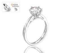 """Кольцо для помолвки """"Аделин"""" из золота с  бриллиантом."""