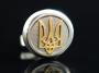 Золотые запонки Герб Украини