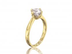 """Кольцо для помолвки """"Марго"""" из золота с фианитом."""