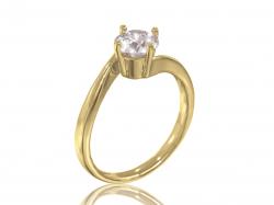 """Помолвочное кольцо """"Клэр"""" из золота с фианитом."""