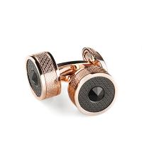 Запонки Montegrappa Classic Filigree Rose Gold PVD, Black Cufflinks