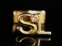 """Золотые запонки с инициалами """"SL"""""""