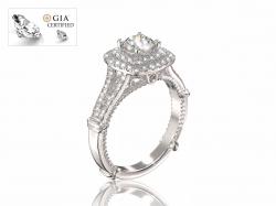 """Помолвочное золотое кольцо  """"Элиан"""" с бриллиантами."""