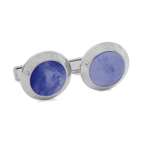 Запонки Alfred Dunhill Cufflinks Silver Blue