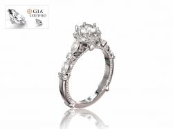 """Помолвочное кольцо """"Габриэлла"""" из золота с бриллиантами."""
