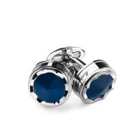 Запонки Montegrappa Parola Stainless steel, Navy Blue Cufflinks