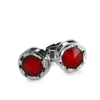 Запонки Montegrappa Parola Stainless steel, Red Cufflinks