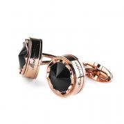 Запонки Montegrappa Parola Rose Gold PVD, Black Cufflinks