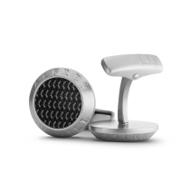 Запонки Alfred Dunhill Ad Coin Carbon Fibre