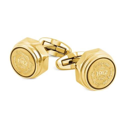 Запонки Montegrappa Emblema Yellow Gold PVD Cufflinks