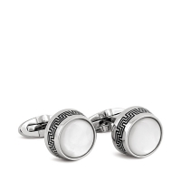 Запонки Montegrappa Extra White Mother-of-Pearl Inlay Cufflinks