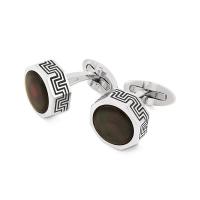 Запонки Montegrappa Privilege Stainless Steel Mother-of-Pearl inlay Cufflinks