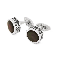 Запонки Montegrappa Privilege Stainless Steel Mother-of-Pearl inlay Cufflinks