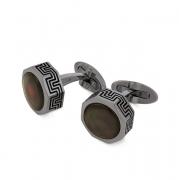 Запонки Montegrappa Privilege Gun Metal PVD Black Mother-of-Pearl inlay Cufflinks