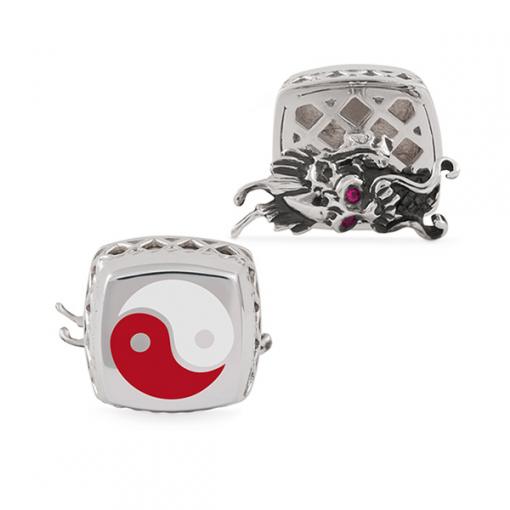 Запонки Montegrappa Yin Yang Silver Cufflinks