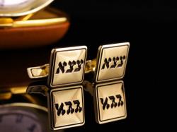 Запонки из золота с инициалами