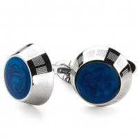 Запонки Montegrappa Miya Stainless steel, Turquoise Cufflinks