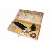 Письменный набор с чёрным пером