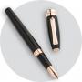 Перьевая ручка Montegrappa Fortuna Black Resin Rose Gold PVD Fountain pen