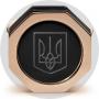 Запонки Montegrappa NeroUno Ukraine Rose Gold PVD, Onyx Inlay
