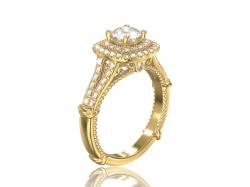 """Помолвочное золотое кольцо  """"Элиан"""" с фианитами."""
