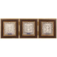 Подарочный Складень Покров, Спаситель и Ангел Хранитель