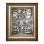 """Икона """"Тихвинской Богоматери с изображением явления Пресвятой Богородицы пономарю Георгию"""""""