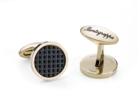 Запонки Montegrappa Clou Cufflinks, IP Yellow Gold & IP Black
