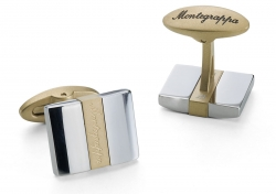 Запонки Montegrappa Rettangolo Cufflinks, IP Yellow Gold & Steel