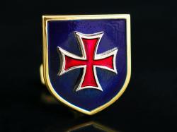 Золотые запонки с крестом
