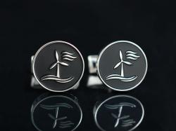 Запонки с логотипом