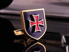 Запонки щит с гербом
