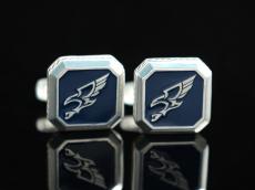 Серебрение запонки Орел
