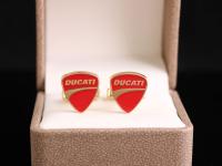 "Запонки с логотипом ""DUCATI"""