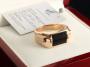 Золотой перстень с черным фианитом