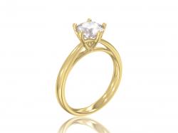 """Кольцо для помолвки """"Аделин"""" из золота с фианитом."""
