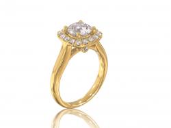 """Кольцо из золота с фианитами для помолвки """"Джулия""""."""