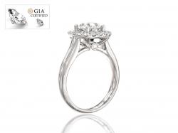 "Кольцо из золота с бриллиантами для помолвки ""Джулия""."