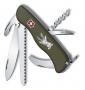 "Складной нож Victorinox ""Hunter"" 0.8873.4 зелёный"