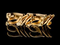 """Золотые запонки с инициалами """"JM"""""""