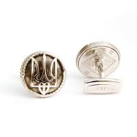 Запонки Herzog Ukraine Silver, Topaz and Diamond