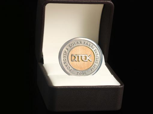"Серебряная монета ""DTEK"""