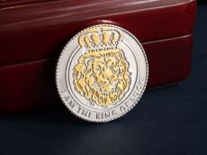 "Серебряная монета ""Лев"" (серебро 925)"