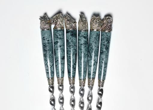 Набор шампуров  «ОХОТА» (GREEN)