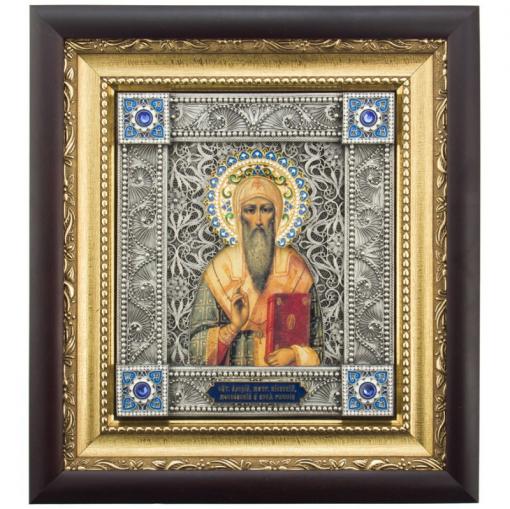 """Православная икона """"Митрополит Алексий"""" (XCVB)"""