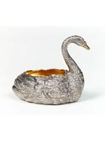 Серебреная паштетница Лебедь
