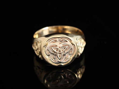 Перстень с кельтскими символами (золото 585)