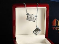 """Серебряная подвеска """"Письмо"""""""